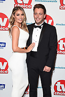 LONDON, UK. September 10, 2018: Chloe Simms &amp; James 'Dags' Benwith at the TV Choice Awards 2018 at the Dorchester Hotel, London.<br /> Picture: Steve Vas/Featureflash