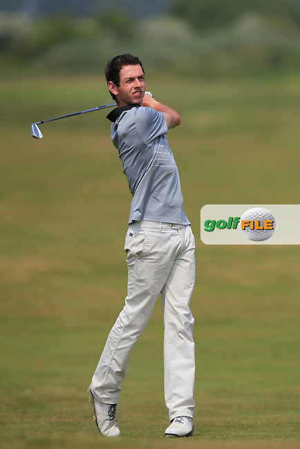 William Russell (Clandeboye) on the 2nd during Round 4 of the East of Ireland Amateur Open Championship sponsored by City North Hotel at Co. Louth Golf club in Baltray on Monday 6th June 2016.<br /> Photo by: Golffile | Thos Caffrey