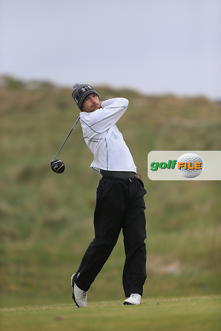 Stephen Loftus (Lahinch) on the 1st tee during the 3rd round of the Irish Amateur Close Championship 2013 at the Connemara Golf Club 10/6/13<br /> Picture:  Thos Caffrey / www.golffile.ie