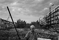 Gori, Georgia, August 22, 2008.Mikhail, 65, has lost everything in the destruction of his appartment, located in one of the buildings targeted by Russian aircrafts and tanks as they moved into the town of Gori at the beginning of the conflict.
