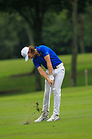 Tommy Fleetwood (Europe) on the 8th fairway during the Friday Foursomes of the Eurasia Cup at Glenmarie Golf and Country Club on the 12th January 2018.<br /> Picture:  Thos Caffrey / www.golffile.ie