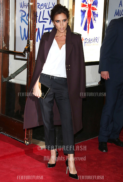 Victoria Beckham arriving for VIVA Forever Spice Girls the Musical held at the Piccadilly Theatre. 11/12/2012 Picture by: Henry Harris / Featureflash