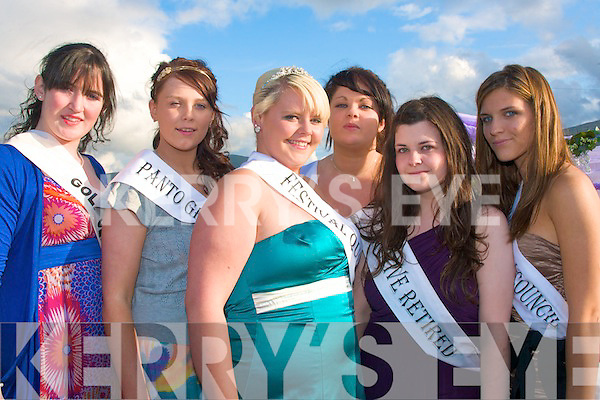 2498-2501.---------.Festival Queen.--------------.Jade Cuthbert(3rd from the left)was chosen this year's Castlegregory's summer festival queen,with her were other contestants,L-R Gerldine McCarthy,Amy O Donnell,Jade Cuthbert,Lisa kelliher,Aoife Dowling and Megan Fitzgerald.