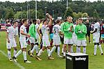 29.07.2017, Heinz-Dettmer-Stadion, Lohne, GER, FSP, SV Werder Bremen vs West Ham United<br /> <br /> im Bild<br /> Thomas Delaney (Werder Bremen #6) mit Pokal / Trophäe, <br /> <br /> Foto © nordphoto / Ewert