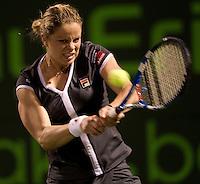 Kim CLIJSTERS (BEL) against Samantha STOSUR (AUS) in the Quarter Finals of the women's singles. Kim Clijsters beat Samantha Stosur 6-3 7-5..International Tennis - 2010 ATP World Tour - Sony Ericsson Open - Crandon Park Tennis Center - Key Biscayne - Miami - Florida - USA - Wed 31st Mar 2010..© Frey - Amn Images, Level 1, Barry House, 20-22 Worple Road, London, SW19 4DH, UK .Tel - +44 20 8947 0100.Fax -+44 20 8947 0117