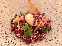 "The dish of ""Foie Gras Cereal: iced and creamy foie gras 