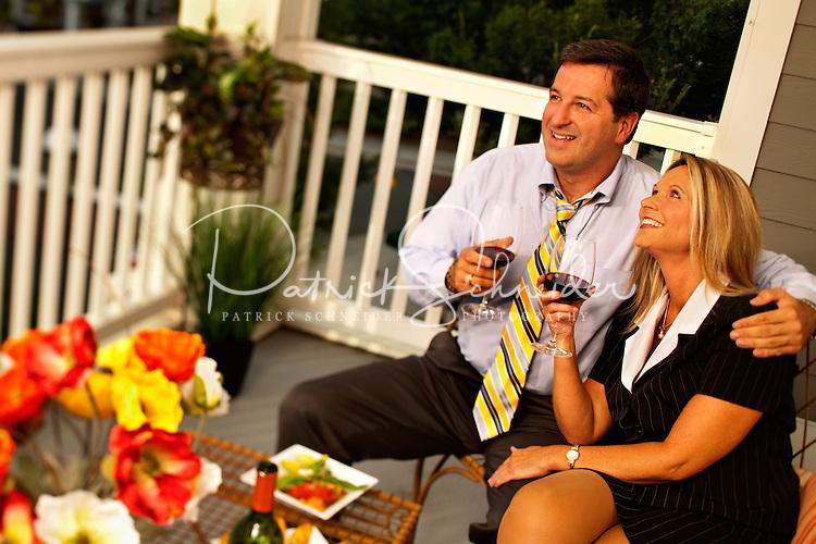 Lifestyle photos on the patio area at Birkdale Village, in Huntersville, North Carolina. Photo by: Patrick Schneider Photo.Com