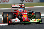 Ferrari's Fernando Alonso drives during a practice session at the Circuit de Catalunya on May 9, 2014. <br /> PHOTOCALL3000 / PD