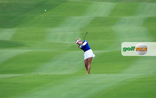 Alison Lee (ENG) on the 10th fairway during Round 1 of the Honda LPGA Thailand on Thursday 23rd February 2017.<br /> Picture:  Thos Caffrey / Golffile