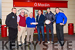 Moran's of Dingle sponsoring the West Kerry Minor and Senior Football Championship. From left: Breandan Mac Gearailt (PRO, West Kerry Board), Derry Ó Murchú (Secretary, West Kerry Board), Muiris Ó Fiannachta (Chairman, West Kerry Board), John Moran (sponsor), Paul Geaney (DaingeanUí Chúis), Jason Murphy (manager, Moran's).