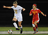 Lauren Haggerty #22 of St. Anthony's, left, gets pressured by Joanna Graca #7 of Sacred Heart Academy during the Nassau-Suffolk CHSAA varsity girls soccer final at Adelphi University on Wednesday, Nov. 1, 2017. St. Anthony's won by a score of 2-0.