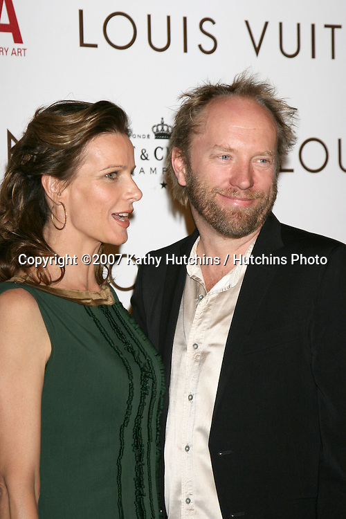 Rachel Griffiths & Husband.Murakami Exhibition at the Geffen Contemporary at MOCA Gala.iho Louis Vuitton Artistic Director, Marc Jacobs.Los Angeles, CA.October 28, 2007.©2007 Kathy Hutchins / Hutchins Photo...               .