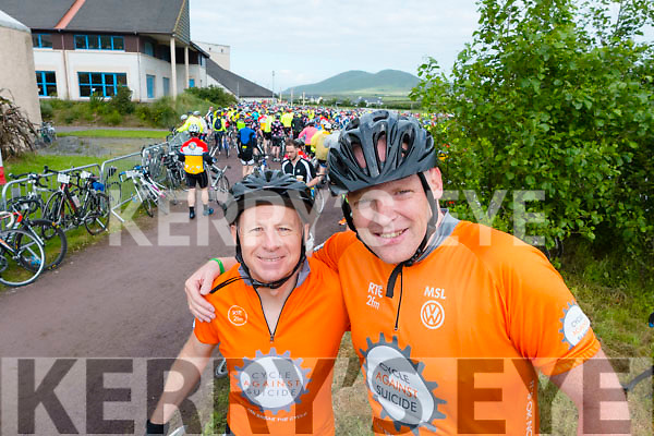 Joe Hunt and Kevin Finn at the Ring of Kerry cycle on Saturday.