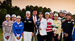 Tenniel Chu Vice Chairman of Mission Hills Group (CL) poses with Hyo Joo Kim of Korea (CR) and the rest of Korean players after the Hyundai China Ladies Open 2014 at World Cup Course in Mission Hills Shenzhen on December 14<br />