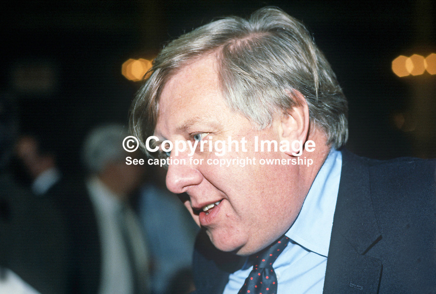Roy Hattersley, MP, deputy leader, Labour Party, UK, annual conference, October, 1984, 19840122RH3.<br />