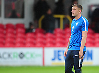 Preston North End's Jordan Hugill<br /> <br /> Photographer Kevin Barnes/CameraSport<br /> <br /> The Carabao Cup - Accrington Stanley v Preston North End - Tuesday 8th August 2017 - Crown Ground - Accrington<br />  <br /> World Copyright &copy; 2017 CameraSport. All rights reserved. 43 Linden Ave. Countesthorpe. Leicester. England. LE8 5PG - Tel: +44 (0) 116 277 4147 - admin@camerasport.com - www.camerasport.com