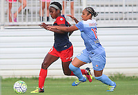 Boyds, MD - Saturday July 09, 2016: Francisca Ordega, Samantha Johnson during a regular season National Women's Soccer League (NWSL) match between the Washington Spirit and the Chicago Red Stars at Maureen Hendricks Field, Maryland SoccerPlex.