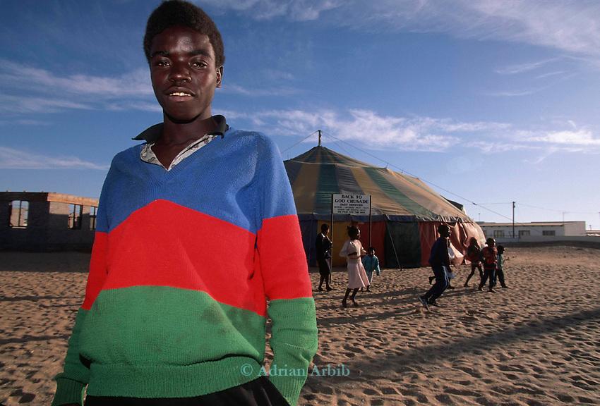 A Christian church roadshow  visits Mondesa, Walvis  Bay's township, Namiba.