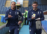 Blackburn Rovers' Danny Graham and Blackburn Rovers' Elliott Bennett<br /> <br /> Photographer Rachel Holborn/CameraSport<br /> <br /> The EFL Sky Bet Championship - Blackburn Rovers v Aston Villa - Saturday 15th September 2018 - Ewood Park - Blackburn<br /> <br /> World Copyright &copy; 2018 CameraSport. All rights reserved. 43 Linden Ave. Countesthorpe. Leicester. England. LE8 5PG - Tel: +44 (0) 116 277 4147 - admin@camerasport.com - www.camerasport.com