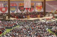 STANFORD, CA - June 15:  Commencement speaker Oprah Winfrey during the 117th Commencement Ceremony on June 15, 2008 at Stanford Stadium in Stanford, California.