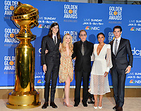 LOS ANGELES, USA. December 09, 2019: Dylan Brosnan, Dakota Fanning, Susan Kelechi Watson, Tim Allen & Paris Brosnan at the nominations announcement for the 77th Golden Globe Awards at the Beverly Hilton Hotel.<br /> Picture: Paul Smith/Featureflash
