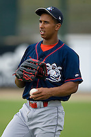 Anthony Gose #24 of the Lakewood BlueClaws at Fieldcrest Cannon Stadium July 10, 2009 in Kannapolis, North Carolina. (Photo by Brian Westerholt / Four Seam Images)