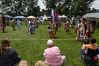 Watching an intertribal dance.