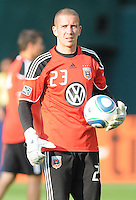 DC United goalkeeper Troy Perkins (23).  DC United defeated Chivas USA 3-2 at RFK Stadium, Saturday  May 29, 2010.
