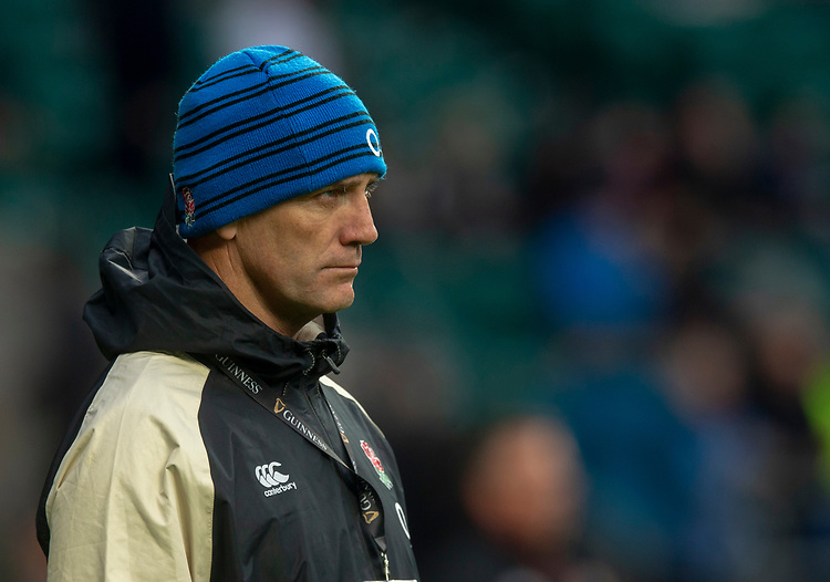 Englands Defence Coach John Mitchell<br /> <br /> Photographer Bob Bradford/CameraSport<br /> <br /> Guinness Six Nations Championship - England v France - Sunday 10th February 2019 - Twickenham Stadium - London<br /> <br /> World Copyright &copy; 2019 CameraSport. All rights reserved. 43 Linden Ave. Countesthorpe. Leicester. England. LE8 5PG - Tel: +44 (0) 116 277 4147 - admin@camerasport.com - www.camerasport.com
