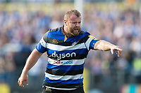 Scott Andrews of Bath Rugby. Aviva Premiership match, between Bath Rugby and Newcastle Falcons on September 23, 2017 at the Recreation Ground in Bath, England. Photo by: Patrick Khachfe / Onside Images