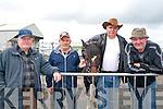 Ballyduff Horse Fair: Attending  Ballyduff horse fair on Sunday last were Ned Mangan, Ballylongford, Tom Lyons , Listowel, Damian Gleasure, Kilflynn & Jimmy O'Hanlon, Listowel.