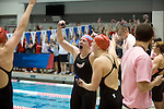 25 MAR 2011: Softmore Allysa Swanson and Juniors Marit Wangstad, Emily Schroeder, and Hilary Callen of Denison Celebrate their vicorty in the 800 yard relay during the Division III Men's and Women's Swimming and Diving Championship help at Allan Jones Aquatic Center in Knoxville TN. The Denison relay team finished with a time of 7:19.11 to win the national title. David Weinhold/NCAA Photos