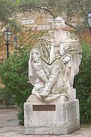 "Statue of Manuel Primero First ""O Venturoso"" at the Castelo Sao Jorge. Lisbon, Portugal"