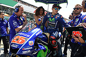 June 4th 2017, Mugello Circuit, Tuscany, Italy; MotoGP Grand Prix of Italy, Race day; Maverick Vinales (Movistar Yamaha) on the grid before the start