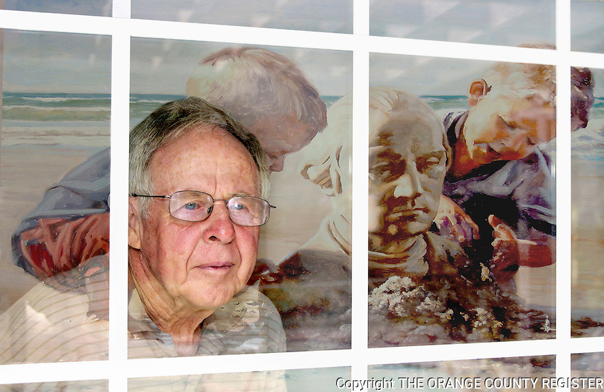Dreamscape story winner Bill Parrish integrated into a photo illustration with a reflection of the painting by OCR artist Craig Pursley. 8-1-08. Portfolio only.