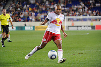 Thierry Henry (14) of the New York Red Bulls. The New York Red Bulls and the Vancouver Whitecaps played to a 1-1 tie during a Major League Soccer (MLS) match at Red Bull Arena in Harrison, NJ, on September 10, 2011.