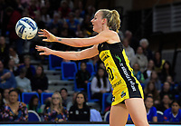 Katrina Rore in action during the ANZ Premiership netball match between the Central Pulse and Northern Mystics at Te Rauparaha Arena in Wellington, New Zealand on Wednesday, 17 April 2019. Photo: Dave Lintott / lintottphoto.co.nz