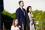 King Felipe VI of Spain and Queen Letizia of Spain depart for an official visit to Japan in presence of Ana Pastor, President of the Congress of Deputies (l). April 3 ,2017. (ALTERPHOTOS/Acero)