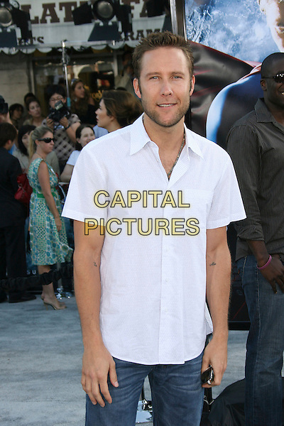 "MICHAEL ROSENBAUM.Warner Bros. Pictures News World Premiere of ""Superman Returns"" held at the Mann Village Theater, Westwood, California, USA..June 21st, 2006.Photo: Zach Lipp/AdMedia/Capital Pictures.Ref: ZL/ADM.half length white shirt.www.capitalpictures.com.sales@capitalpictures.com.© Capital Pictures."