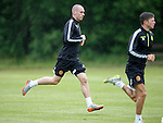 Summer signing Joe Chalmers flying at traning for Motherwell
