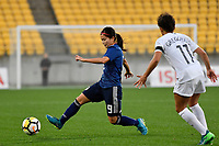 Japan&rsquo;s Nahomi Kawasumi in action during the  International Football - Football Ferns v Japan  at Westpac Stadium, Wellington, New Zealand on Sunday 10 June 2018.<br /> Photo by Masanori Udagawa. <br /> www.photowellington.photoshelter.com