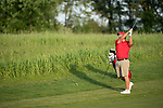 SUGAR GROVE, IL - MAY 29: Braden Thornberry of Ole Miss hits an approach shot during the Division I Men's Golf Individual Championship held at Rich Harvest Farms on May 29, 2017 in Sugar Grove, Illinois. Thornberry won the individual national title with a -11 score. (Photo by Jamie Schwaberow/NCAA Photos via Getty Images)