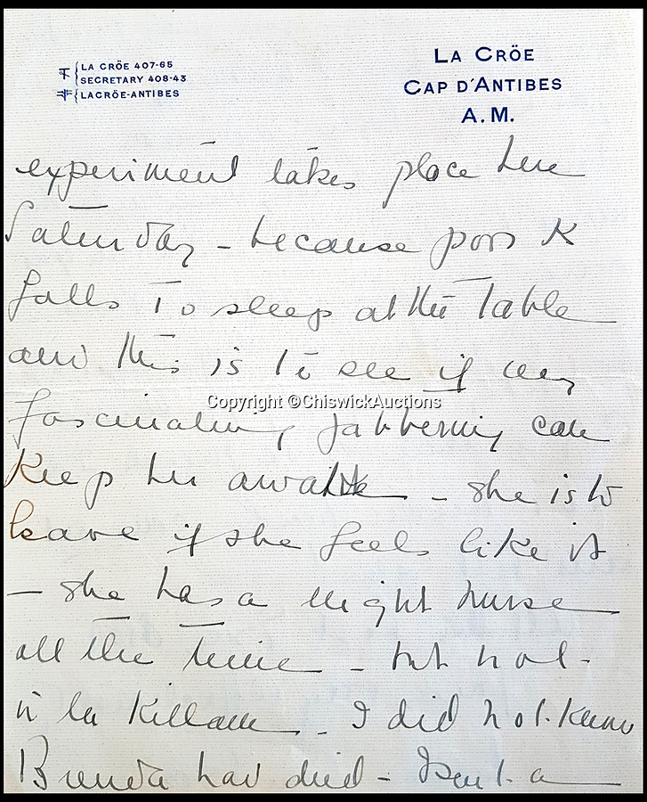 BNPS.co.uk (01202 558833)<br /> Pic: ChiswickAuctions/BNPS<br /> <br /> A never-seen-before letter written by Wallis Simpson that suggests the rose-tinted glasses had fallen off her marriage after a decade has emerged for sale 70 years later.<br /> <br /> The eight-page letter, written in 1948, reveals the Duchess of Windsor was not impressed at having to move to a 'gloomy dark house' in Paris because the Duke wanted to be in the city and talks about money problems they have.<br /> <br /> It may also give weight to biographer Andrew Morton's claims that the Duchess of Windsor was actually in love with her close friend Herman Rogers, as she mentions the Duke only once but spends several pages talking about Herman and his wife Katherine.<br /> <br /> The letter has been kept by a private collector for the last 20 years and is now being sold at auction for the first time by Chiswick Auctions with an estimate of £7,000.