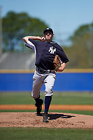 New York Yankees Will Carter (30) during a minor league Spring Training game against the Toronto Blue Jays on March 22, 2016 at Englebert Complex in Dunedin, Florida.  (Mike Janes/Four Seam Images)