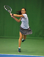 01-12-13,Netherlands, Almere,  National Tennis Center, Tennis, Winter Youth Circuit, Phillis Vanenburg  <br /> Photo: Henk Koster