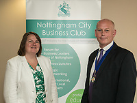 Guest speaker Pamela Wrght, of the Bank of England with NCBC President Ian Roberts