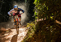 Picture by Alex Broadway/SWpix.com - 10/09/17 - Cycling - UCI 2017 Mountain Bike World Championships - Downhill - Cairns, Australia - Gee Atherton of Great Britain competes in the Men's Elite Downhill Final.
