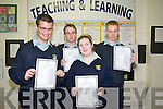 Listowel Community College: Students from Listowel Community College who received their Junior Cert results on Wednesday last: L-R: Jack Kingston, Donie Falvey, Sabrina Loughnane-Lucey & Maurice Falvey.