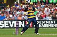 Colin Ingram hits four runs for Glamorgan during Essex Eagles vs Glamorgan, NatWest T20 Blast Cricket at The Cloudfm County Ground on 16th July 2017