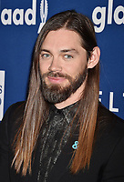 BEVERLY HILLS, CA - APRIL 12: Actor Tom Payne attends the 29th Annual GLAAD Media Awards at The Beverly Hilton Hotel on April 12, 2018 in Beverly Hills, California.<br /> CAP/ROT/TM<br /> &copy;TM/ROT/Capital Pictures